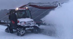 太阳能板除雪机